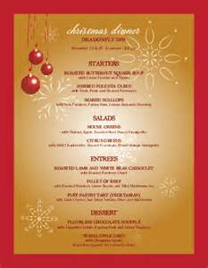 christmas party menu christmas menus