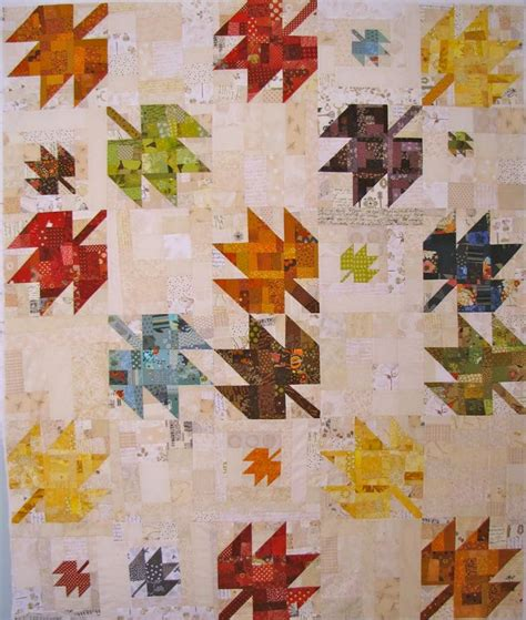 Quilt Leaf Pattern by I This One K S Design Scrappy Modern Maple Quilt Autumn Leaf Quilt Ideas