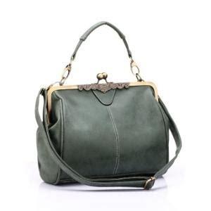 Leather Olive Intl vintage army olive green tote bag
