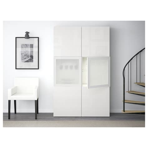 ikea besta glass doors best 197 storage combination w glass doors white selsviken