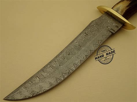 Handmade Bowie Knife - professional damascus bowie knife custom handmade damascus