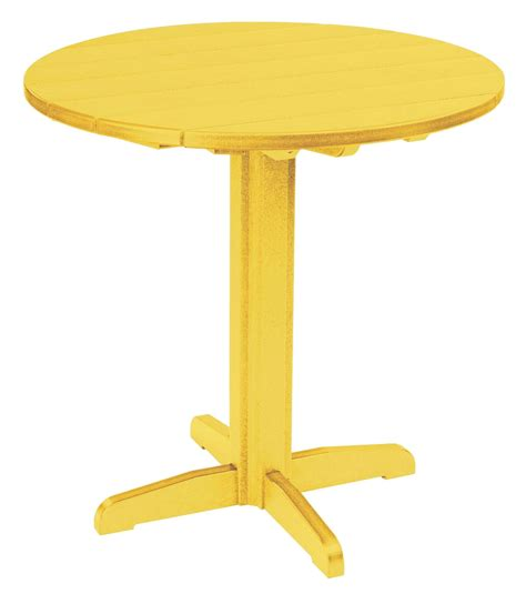 Yellow Bar Table Generations Yellow 37 Quot Pub Height Pedestal Table From Cr Plastic Tbt23 04 Coleman