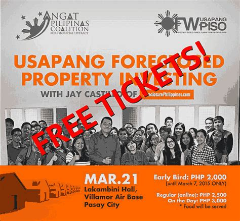 Seminar Giveaways - congratulations to the 3 winners for the usapang