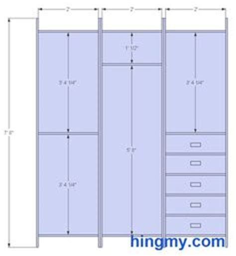 rails layout hierarchy dimensions for half height and full height hanging spaces