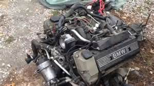 bmw 540i 6 m62 m62tu 4 4l v8 engine removal from a e39