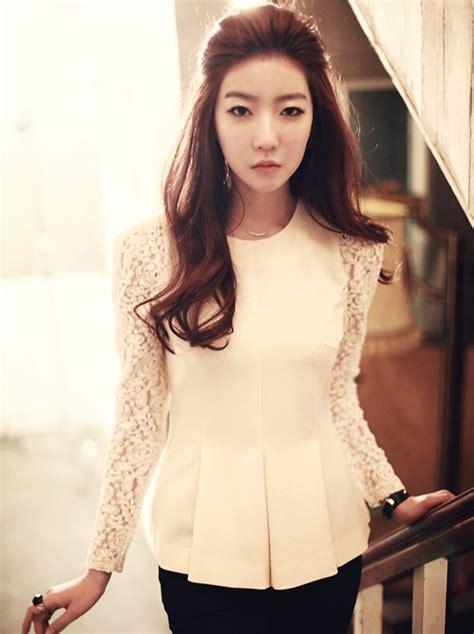 Korean Blouse korean new hook flower sleeves blouse