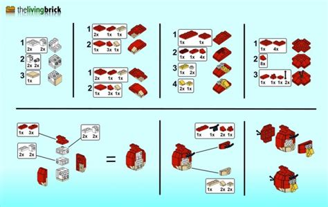 how to make the angry birds out of legos