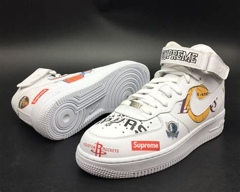 Supreme Nike Air 1 by Supreme X Nike Air 1 Mid White Nba Team Logos For