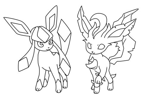 coloring pages of leafeon glaceon and leafeon coloring page by bellatrixie white on