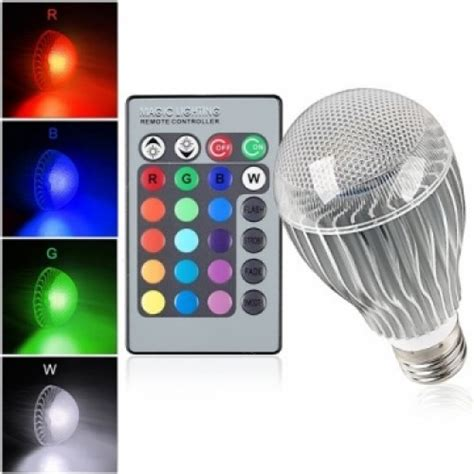 10 watt color changing led light bulb with remote