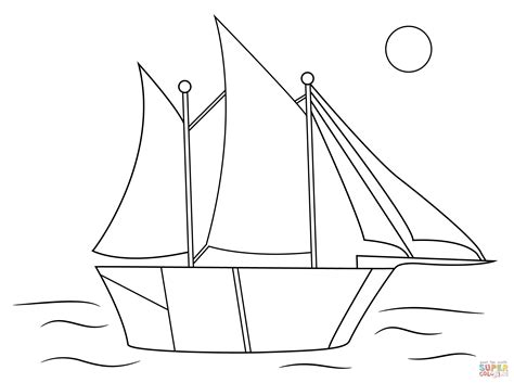 how to draw a optimist boat aboriginal drawing of sailing ship coloring page free