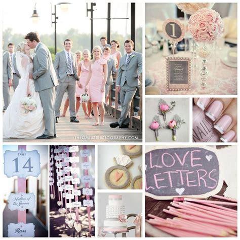 Blush Pink and Light Grey Wedding Inspiration Board