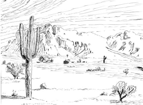desert background coloring page desert scene coloring coloring pages