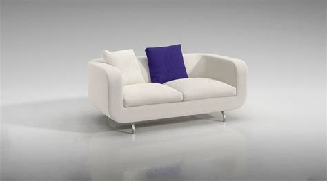 white fabric sofa white fabric sofa 3d model cgtrader