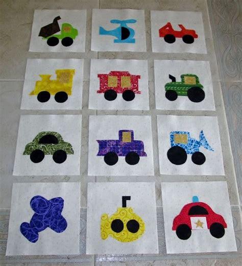 Transportation Quilt Pattern by Set Of 12 Various Transportation Vehicles 6 Quot X 6 Quot Quilt