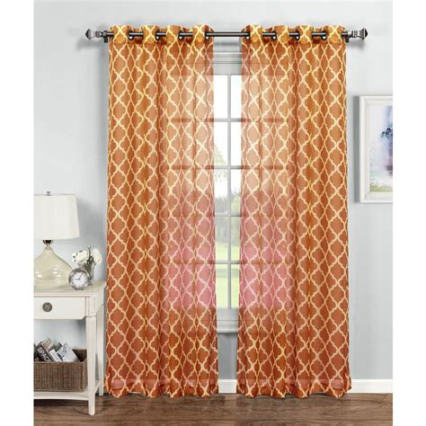 54 x 96 curtains window elements sheer quatrafoil printed sheer extra wide