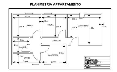pianta appartamento dwg piantina appartamento con misure decora la tua vita
