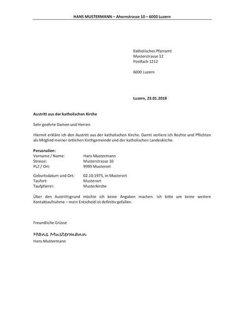 Brief Anfrage Finanzielle Unterstützung Kirchenaustritt Schweiz Vorlage Muster Vorlage Ch