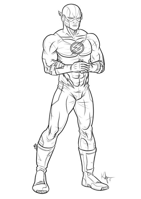 superhero coloring pages free printable the flash superhero coloring pages az coloring pages
