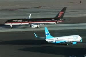 trump s plane donald trump s jet taxis next to hillary clinton s abc