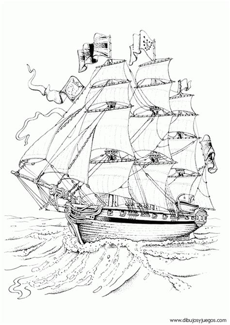 dibujos de barcos para imprimir y colorear dibujo de barcos con velas para colorear 005 dibujos y