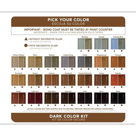 cabinet transformations color chart grcom info