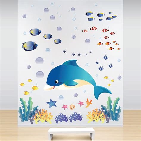 sea wall stickers fish decals sea wall stickers the sea wall murals sea