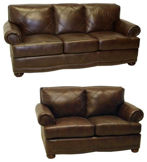 contemporary loveseat shoreline chocolate italian leather sofa and loveseat