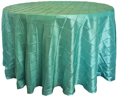 blue aqua 132 quot pintuck taffeta tablecloths