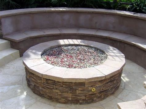 gas pit with glass diy backyard