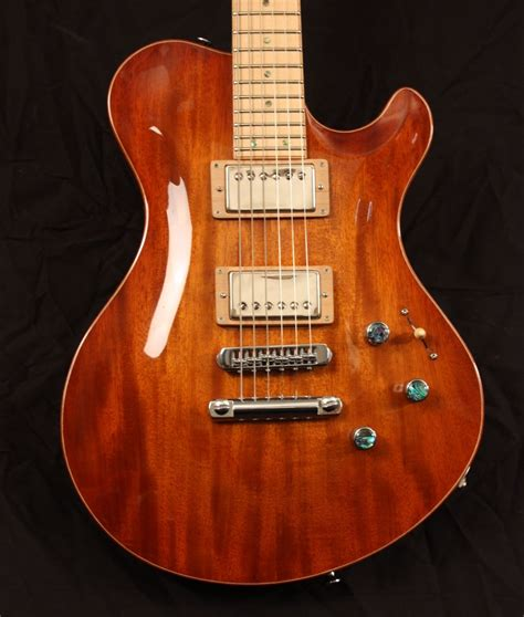 Best Handmade Guitars - handmade mahogany and maple carved top guitar by snider