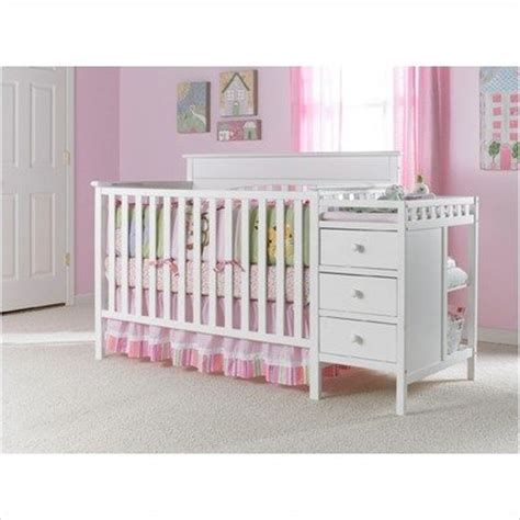White Crib With Changing Table Cribs With Attached Changing Table Crib And Changing Table In Classic White