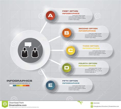 presentation layout website abstract 5 steps business presentation template design
