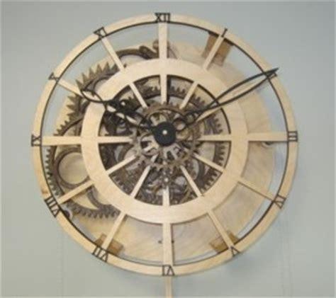 woodworking plan  wooden gear clock plans