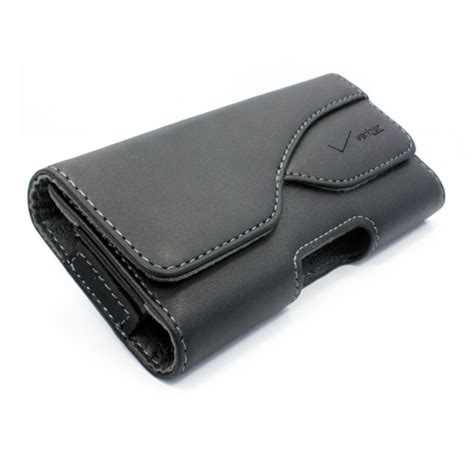 leather pouch cell phone holder side cover holster w