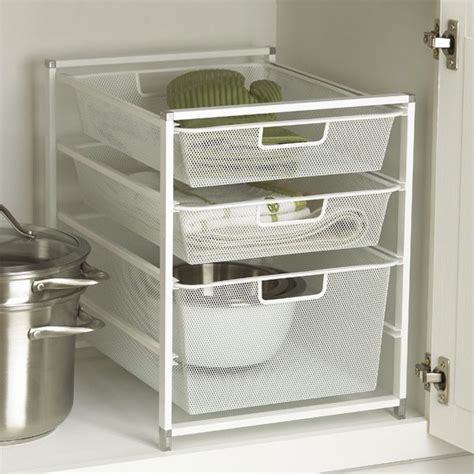 bathroom under cabinet organizers white cabinet sized elfa mesh drawers under sink