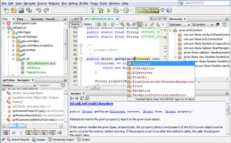 design text editor in java netbeans ide editing and refactoring