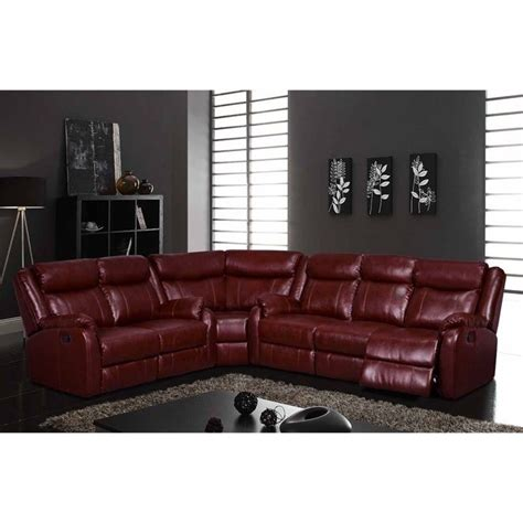 global furniture sectional global furniture usa faux leather reclining sectional in