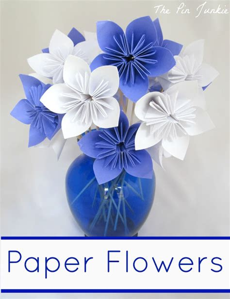 Paper Flower Crafts - 40 pretty paper flower crafts tutorials ideas
