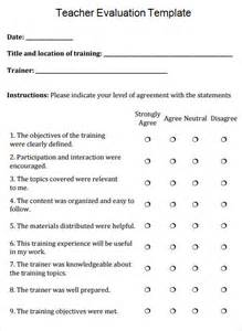 Student Self Evaluation Templates by Evaluation Template Free Documents In Pdf