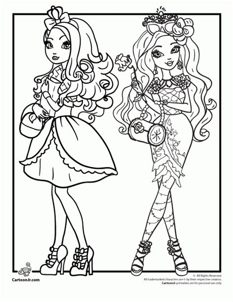 ever after high coloring pages rebels get this royal rebels ever after high girl coloring pages