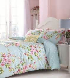 superb cotton twin pink blue rose floral reversible shabby duvet cover