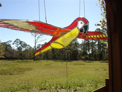 handmade stained glass  flying birds mobile  artistic stained glass  custommadecom