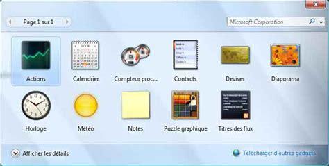 gadget bureau gratuit gadgets vista calendrier websitegala6 com
