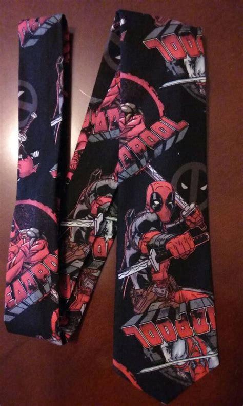 deadpool tie necktie deadpool fabric