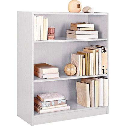 Maine Small Extra Deep Bookcase White