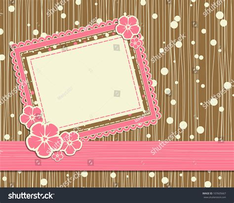 template foto vector template foto card for scrapbook 107605667
