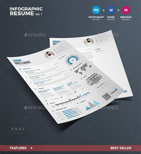 infographic resume template psd 10 all time best premium simple infographic resume cv template in word ai indd psd cdr