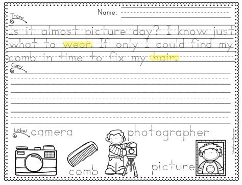 business letter practice worksheets handwriting activities for 4th graders working