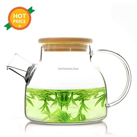 glass teapot with glass teapot with bamboo lid umiteasets com